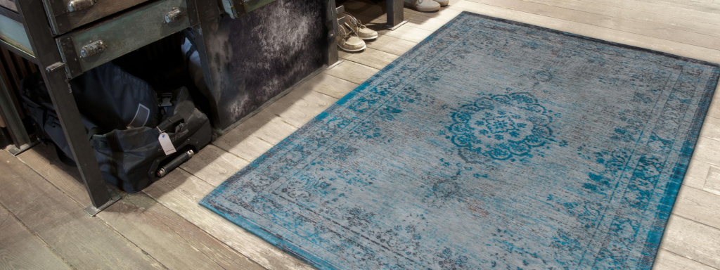 Fading World Medallion Grey Turquoise 8255 The Rug