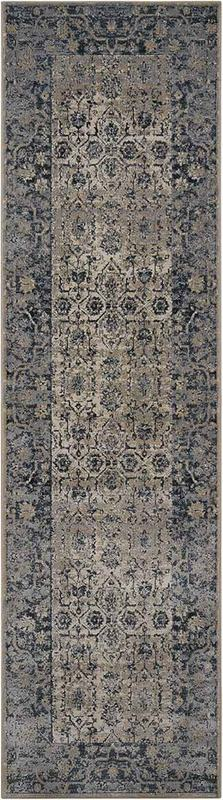 Mal04 Ivory Blue The Rug Outlet